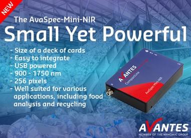 Nuevo espectrómetro Mini NIR AvaSpec-Mini-NIR-256